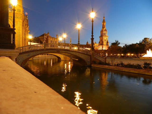 seville beautiful night