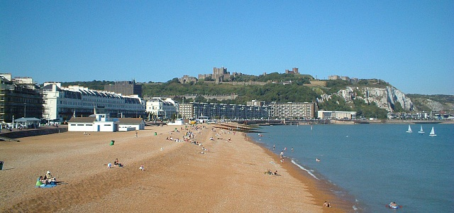 Dover Seafront And Castle
