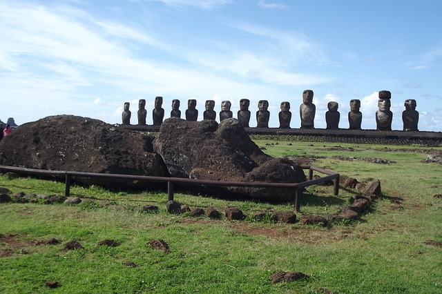 easter island barial