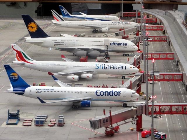 Planes at hanger