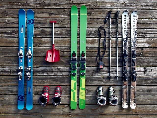 skiing gear