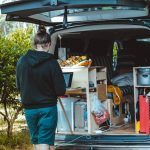 Camping storage compartments